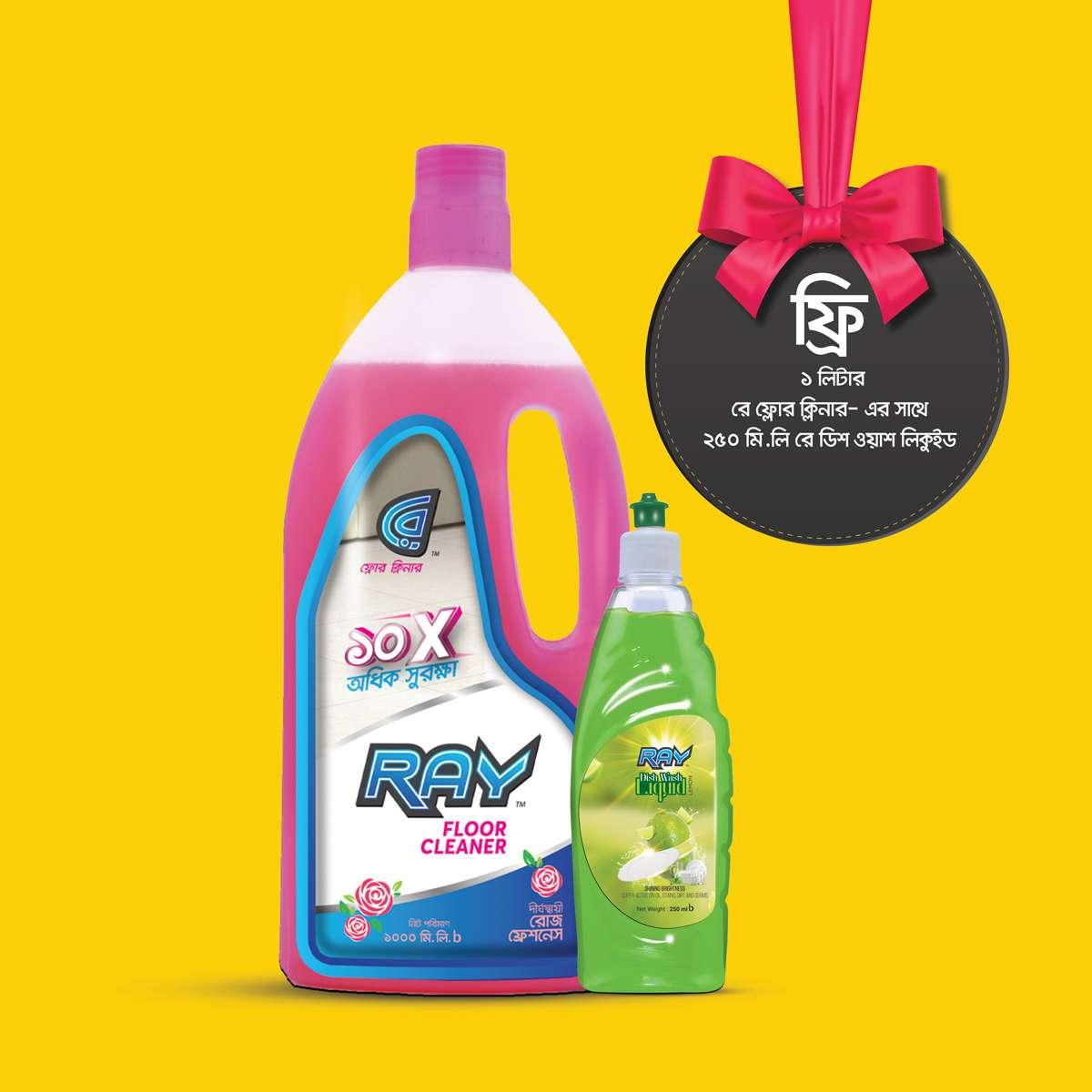 Buy Floor Cleaner 1 Liter & Get Dish Wash 250 ml