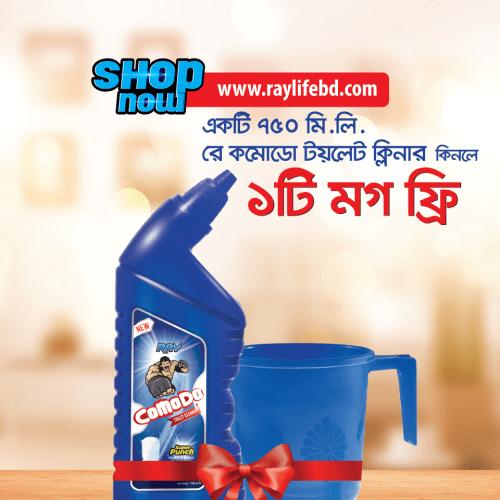 Buy RAY Comodo Toilet Cleaner 750ml & Get Free Mug