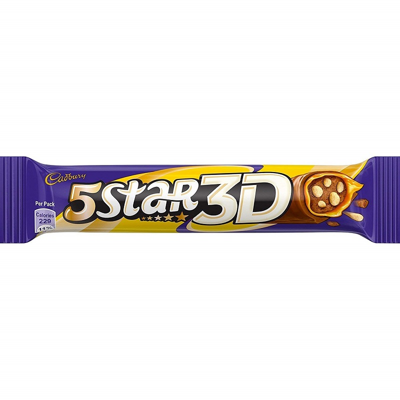Cadbury Five Star 3D Chocolate Bar 45gm