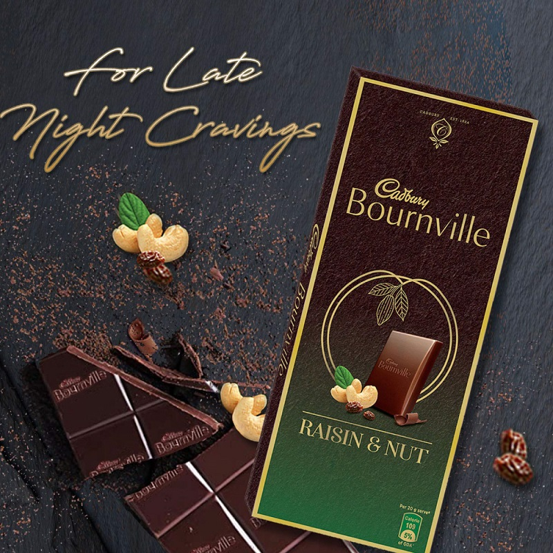 Cadbury Bournville with Raisin Nuts Milk and Cashew Nuts 80gm