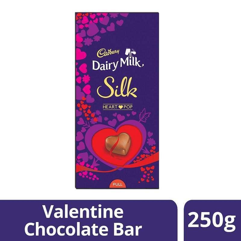 Cadbury Dairy Milk Silk Heart Pop 250gm