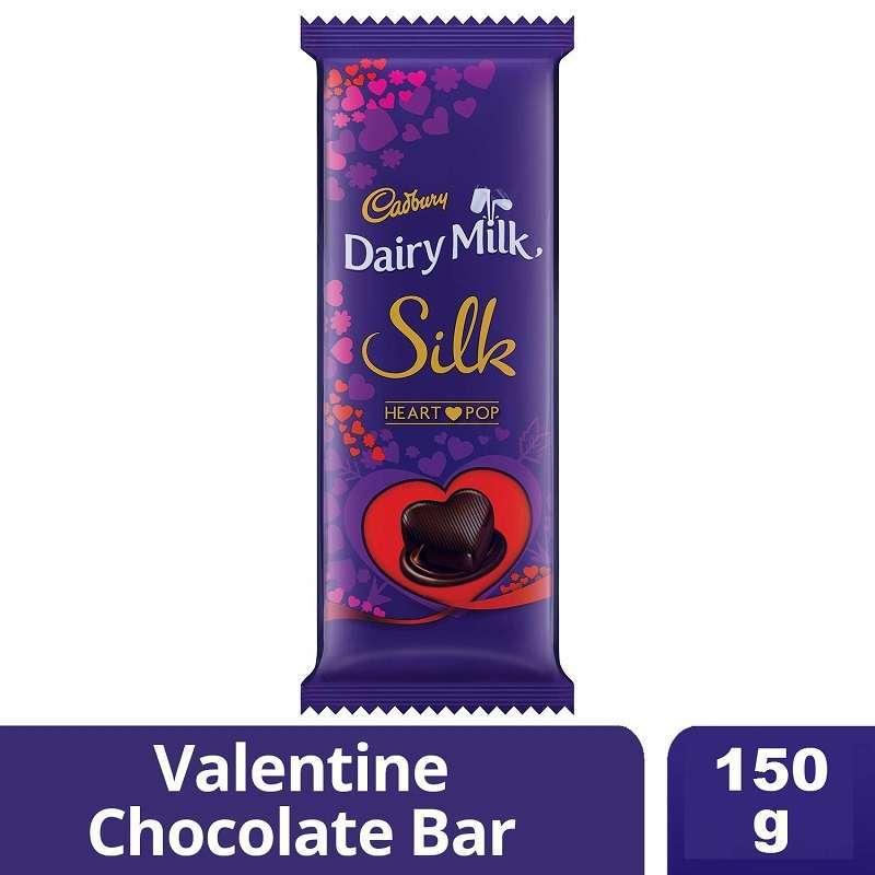 Cadbury Dairy Milk Silk Heart Pop Chocolate Bars 150gm