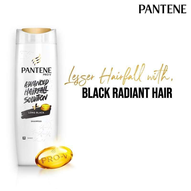 Pantene Advanced Hairfall Solution Long Black Shampoo 180 ml