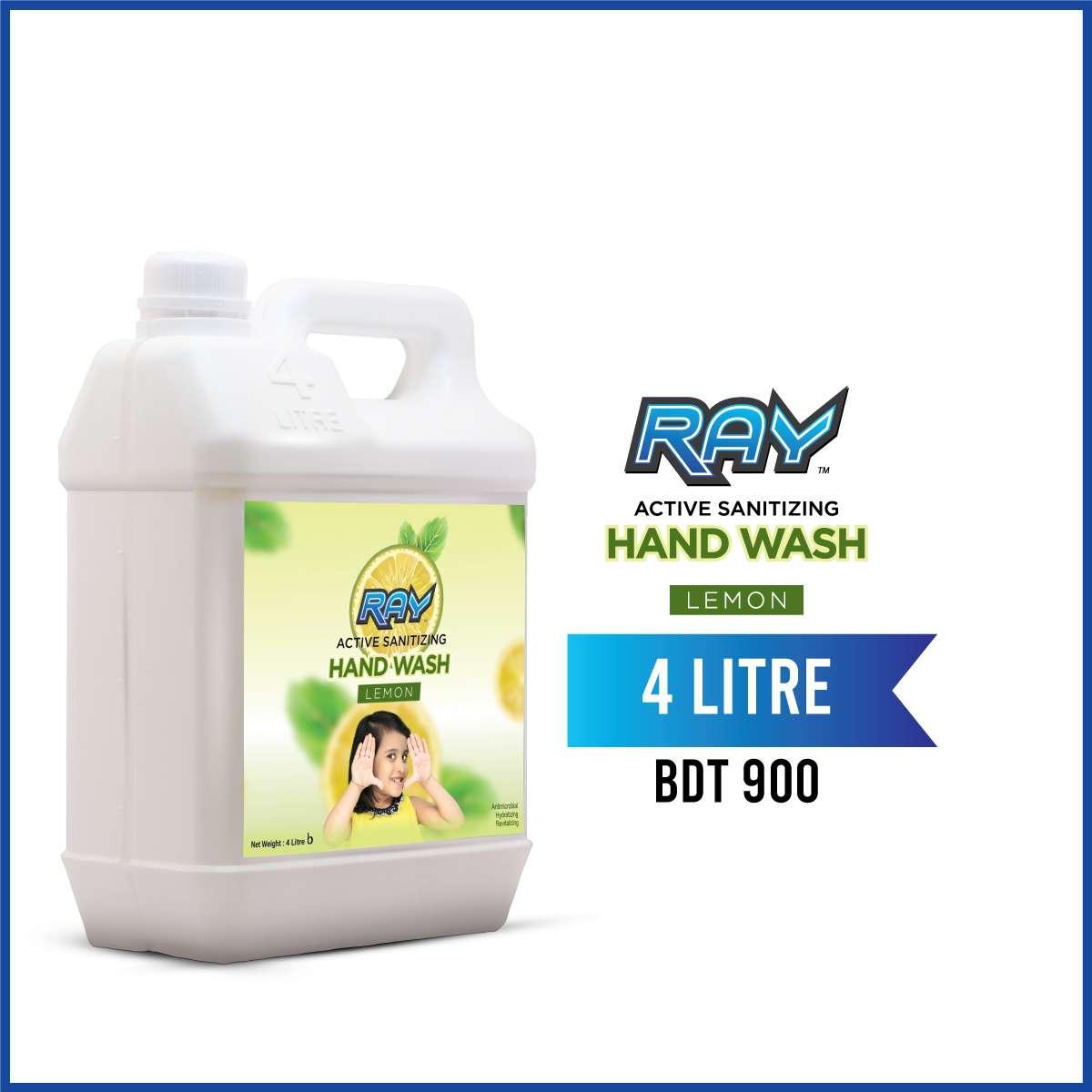 RAY Active Sanitizing Hand Wash Refill 4 Liter Lemon