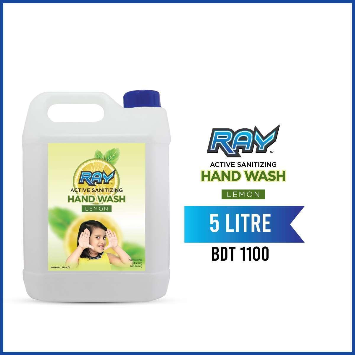 RAY Active Sanitizing Hand Wash Refill 5 Liter Lemon